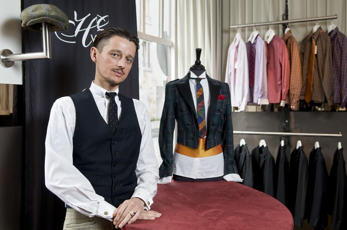 """Bent Angelo Jensen, Modedesigner und Besitzer des Geschäftes """"Herr von Eden"""" in Hamburg // F.A.Z."""
