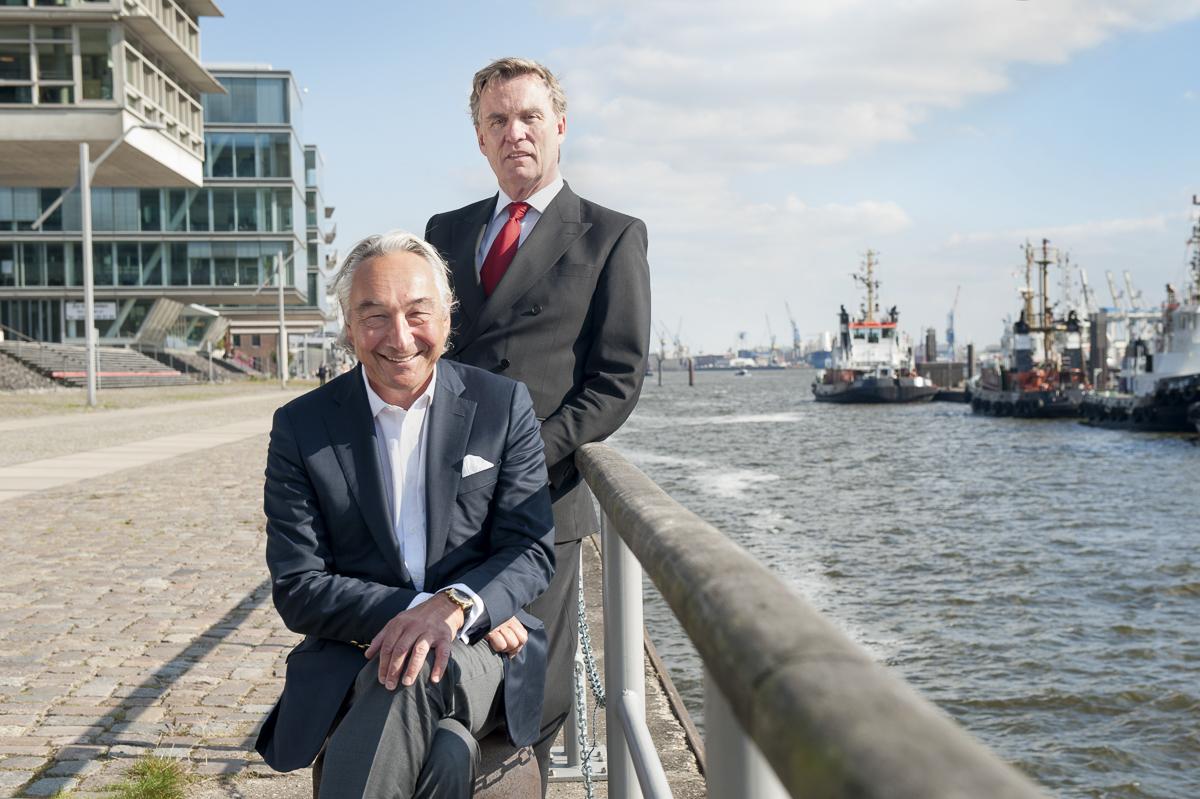Reeder Bertram Rickmers und Unternehmensberater Michael Axhausen // WIRTSCHAFTSWOCHE